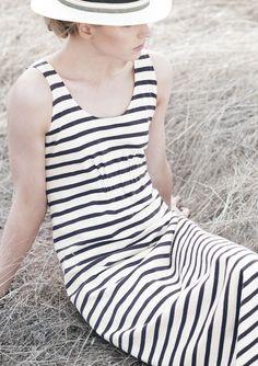 STRIPE TRAPEZE DRESS      | TOAST