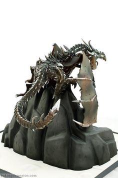 Alduin Dragon Skyrim Cake