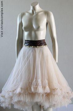 Tutu Steampunk Wedding Tulle Tutu Ballet Skirt Bridal by chrisst, $495.00