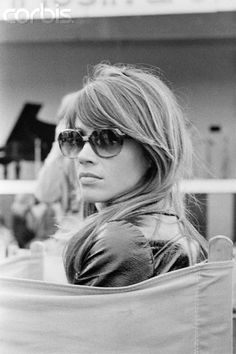 August 1969, Isle of Wight, England, UK --- French singer Francoise Hardy during the International Pop and Rock Festival of the Isle of Wight. --- Image by © Jean Louis Atlan/Sygma/Corbis