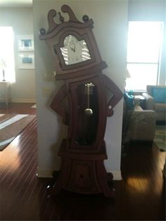 I want this! Anthropomorphic grandfather clock