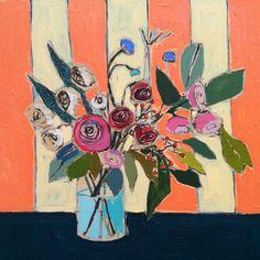 luli wallac, floral paintings, flower paintings, art, painted flowers