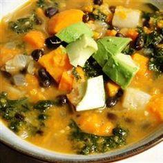 Roasted Vegetable and Kale Soup Allrecipes.com
