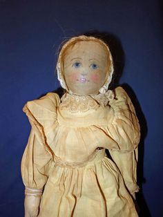 Earlier Babyland Doll with Painted Features from sarabernsteindolls on Ruby Lane