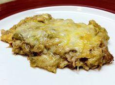 Low Carb Layla: Green Enchilada Casserole #lowcarb
