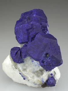 Lazurite on Marble with small crystals of Pyrite Firgamu, Afghanistan