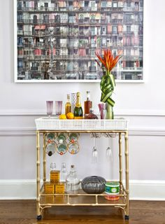 @Gina Vigna ~ society social bar cart
