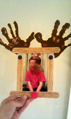 Christmas gift to parents: reindeer picture frame