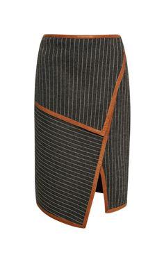 Neo Pinstripe Layer Skirt by Jonathan Simkhai - Moda Operandi