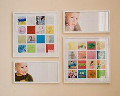 ways to display children's artwork, how to display kid's art, creative ways to display kid's artwork | Mom365.com