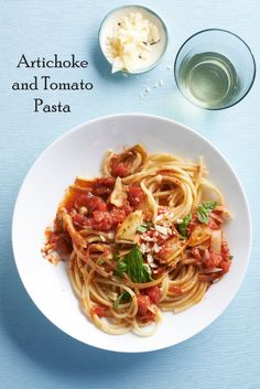 Yum! One of our editors made this delicious Artichoke and Tomato Pasta featured in the magazine. Get the recipe on Delish Dish: http://www.bhg.com/blogs/delish-dish/2013/04/23/artichoke-and-tomato-pasta/?socsrc=bhgpin042413artichokepasta