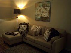 Pier 1 bronze confetti shag rug ivory flounce pillow 2 chocolate