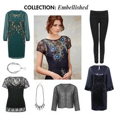 Sequin embellished C