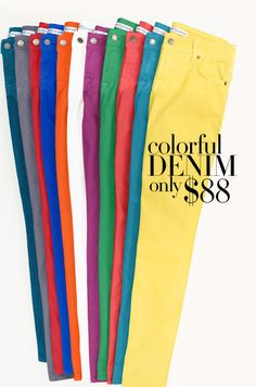 Colors are all the rage... Hmmm $88