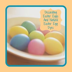 Its almost time to dye Easter Eggs, Did you know you can do it naturally? Find out how. http://www.momsagourmet.com/decorating-easter-eggs-and-natural-easter-egg-dyes