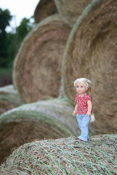 Hay bales by Crazyquilter, via Flickr