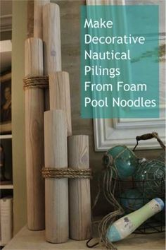 20 DIY Coastal Decor Projects | Home and Garden | CraftGossip.com Nautical theme - Sailing - Embark decor, pool noodles, idea, craft, theme parties, beach, nautical theme, diy, pools