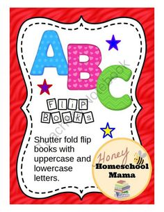 ABC Flip Flap Books - A Letter Recognition Activity - File Folder Game or Activity  from HoneyHomeschoolMama on TeachersNotebook.com -  (18 pages)  - These simple flip flap books give kids an itnereactive file folder activity that helps with letter practice, uppercase and lowercase letter recognition, and also letter matching.