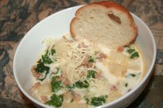 zuppa toscana for the crock, much easier than how i make it now