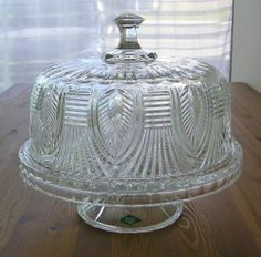 Shannon by Godinger Crystal Domed Cake Plate