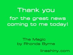 Thank you for the great news coming to me today (linashiny.com)
