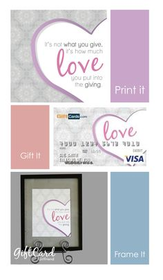 Love quote in free printable or buy on custom gift card
