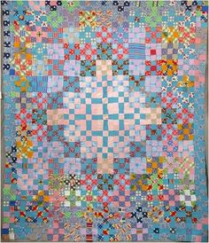 African American Nine-Patch Quilt Top ca. 1950