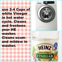 HE washer cleaner. I'm trying this, the store bought stuff is expensive!