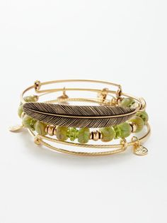 Alex and Ani Feather Bangles