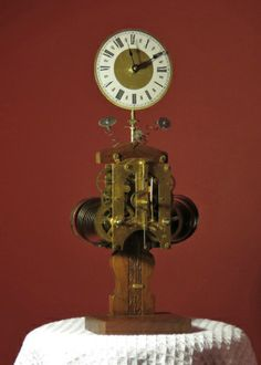 My repurposed lamps and clocks on pinterest lamps wall clocks and steampunk - Steampunk mantle clock ...