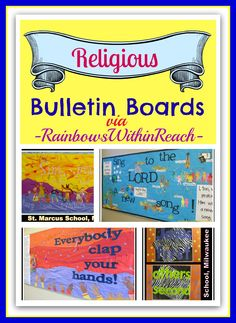 Bulletin Boards from Religious Setting via RainbowsWithinReach