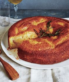 This incredibly lush cake gets its moist texture from ripe pears and a simple rosemary syrup. The best part: no mixer required. Get the recipe for Pear Cornmeal Cake With Rosemary Syrup.