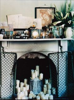 fireplace via @Jennifer Milsaps L