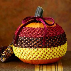 Cozy Wrapped Pumpkin