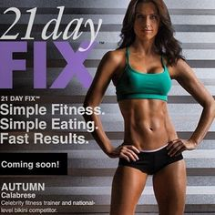 Awesome new 21 Day Fix workout program & nutrition plan by fitness computer and model Autumn Calabrese. Really want to try this!! fitness plan, weight, workout programs, messag, challeng, eating plans, fitness programs, portion control, coming soon
