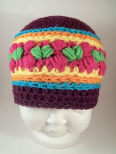 Fruitloop Hat/Beanie Crochet Pattern Newborn-Adult