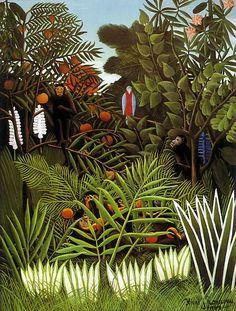 oil paintings, exot landscap, art blog, pattern, jungl