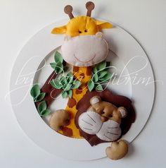 Enfeite de porta / maternidade - Safari