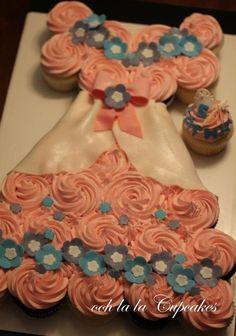 Princess dress pull-apart cake!