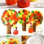Toilet paper roll apples & fall trees.