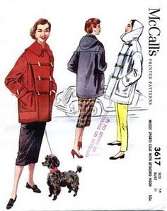 McCall's 3617 parka car, car coat