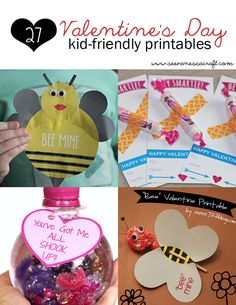 27 Kid-Friendly Valentine's Day Printables from See Vanessa Craft