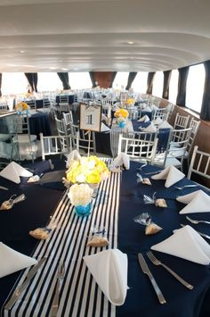 Elegant Message in a Bottle Centerpiece ideas? :  wedding nautical message in a bottle centerpieces white navy silver champagne yacht wine bottle Nautical Table Runner