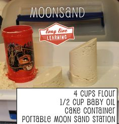 Portable Moon Sand Station - Recipe Tested & It Works! - Homemade Gifts for Kids