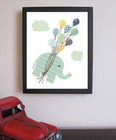elephant print for nursery