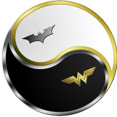 Batman Wonder Woman yin yang-this is awesome
