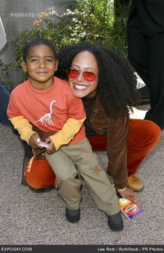 Cree Summer and her son Miles