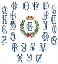 Cross stitch monogrammed alphabet