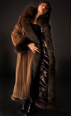 mink  fox fur coat
