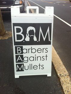 bam, hairdress humor, mullet, hair humor, new hair, barber shop, barbers, hairstylist humor, hair stylist